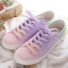 "Harajuku gradient hand-painted canvas shoes SE9239   Coupon code "" cutekawaii"" for 10% off"