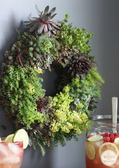 Gorgeous Living Succulent Wreath! Love this! So much better than artificial.