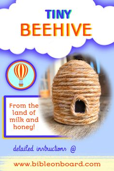 Come and visit the land where milk and honey flow ! step by step instructions on the blog Bible Crafts, Milk And Honey, Step By Step Instructions, Flow, Board, Planks