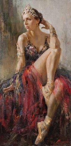 Anna Vinogradova 1975 Russian painter Pittura * Scultura * Poesia * Musica ღ✟ Art Ballet, Portraits Pastel, Wow Art, Online Painting, Paintings Online, Oil Paintings, Russian Art, Russian Ballet, Dance Art