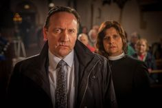 Neil Dudgeon and Rebecca Front in Midsomer Murders Nick Hendrix, Detective, Rebecca Front, Midsomer Murders, Crime, Photo Galleries, Mystery, British, Let It Be
