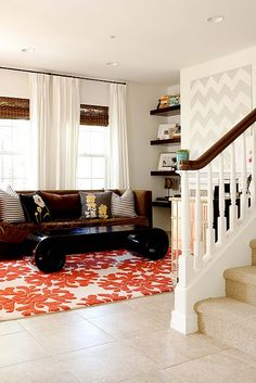 Rug and Chevron painting