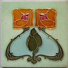 Image detail for -MAJOLICA TILES-MAJOLICA ART NOUVEAU TILES  --this would be great with white on black