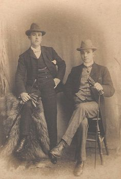 Two young Edwardian men; Hednesford c1900-1910 by awmc1, via Flickr