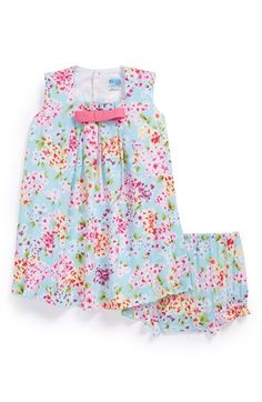 Luli & Me Floral Print Dress & Bloomers (Baby Girls) available at #Nordstrom
