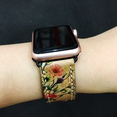 Apple Watch Band 38mm or 42mm Hand-Stitched Handmade Series 1