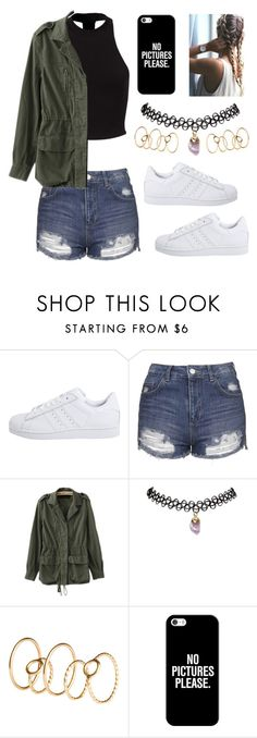 """Untitled #33"" by ttaylxr ❤ liked on Polyvore featuring adidas Originals, Topshop, Wet Seal, H&M and Casetify"