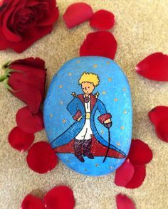 The little prince painted rock