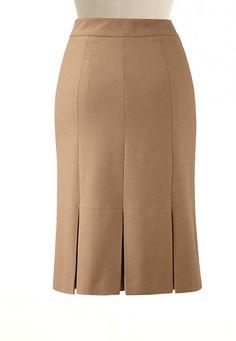 Dark-Sand-Pleated-Crepe-Skirt-front