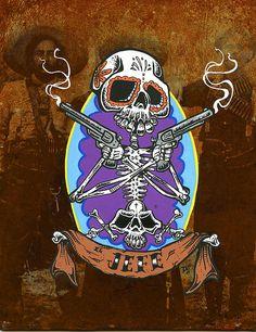Day of the Dead Art -- El Jefe