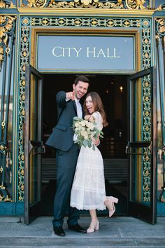 SF City Hall, Elise Nicole Photography Courthouse Wedding Dress, Marriage Life, Marrying My Best Friend, Casual Wedding, Industrial Wedding, Marry Me, Got Married, Mariage, Married Life