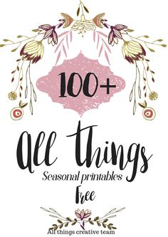 Seasonal printables for your enjoyment. Simply print and frame. 100+ to choose…