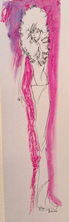 Splash of Color Fashion Illustrations by Denise Fike