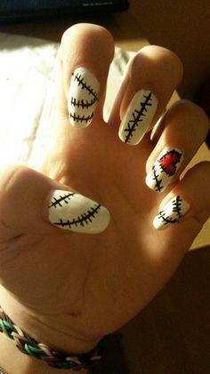 Vixx - Voodoo doll nail Art by Jade Black
