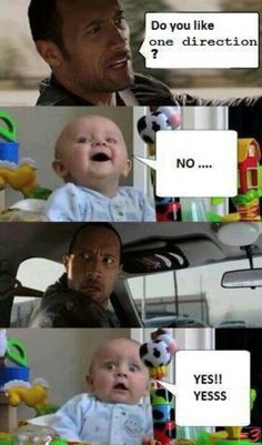 Hahaha this will be my kids if they ever say they don't like One Direction. Especially since one of the boys will be their dad! Lol
