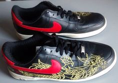 """Rare! Mens Nike Air Force 1""""Air AF-1 82 Athletic Shoes Side Embroidered Size 12 