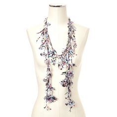 Fab.com | Flower Garden Necklace White There's something intriguing and unique about this piece I love!
