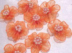 Blueten-Orange-mit-Perlen-8-Stueck-ca-3cm