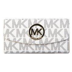 Michael Kors Hot Sale - Michael Kors Logo Signature Large White Wallets $28.99.Don't miss out.
