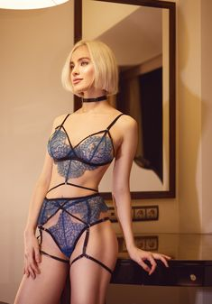 Blue Lace lingerie set Erotic lingerie Sheer lingerie Sexy garter belt Harness lingerie Strappy lingerie See through lingerie boudoir Blue Lingerie, Lace Lingerie Set, Lace Bra, Women Lingerie, Lingerie See Through, Blue Lace, Erotic, Sexy, Swimwear
