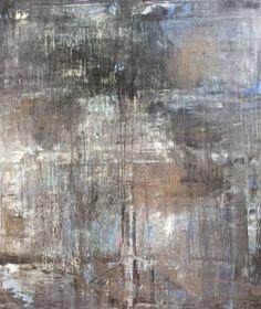 "Saatchi Art Artist Roger König; Painting, """"1155 abstract antique series blue /platinum"""" #art"