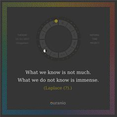 Ouranio.com | Daily quote: Laplace (?), «What we know...»
