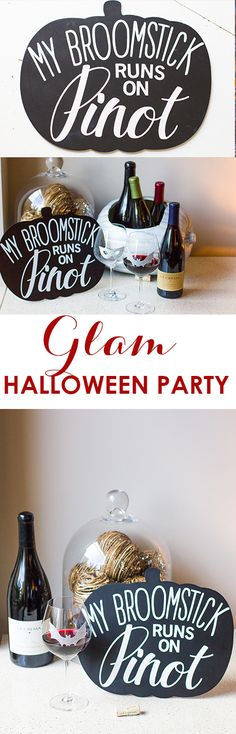 Hosting a Halloween party or looking for ideas to glam up your home for the holiday? From glitter pumpkin coolers, to wine glass decals and pumpkin chalkboards, we have the ideas you need to add a little zhuzh to your Halloween game.