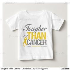 Tougher Than Cancer - Childhood Cancer Tee Shirts by cancerapparelgifts.com #cancerawareness