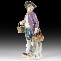 Meissen Porzellan Figuren  Geflügelhändler  aus der  Pariser Ausrufer