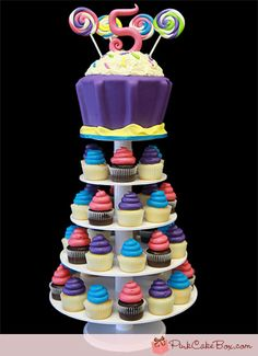 5th Birthday Giant Cupcake Stand