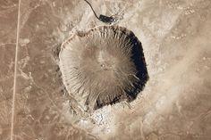 Una imponente huella del impacto de un meteorito en Arizona