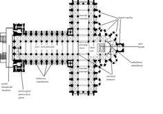 Planta de Santiago de Compostela. Planta cruz latina. -18a