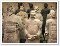 Xi'an is world famous for its Terracotta Army made up of 8000 soldiers, 520 horses and 130 chariots made of clay and discovered by farmers in 1974