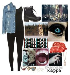 """""""Female Kappa"""" by kaninekiller ❤ liked on Polyvore featuring Dorothy Perkins, M&Co, Topshop, Steve Madden and Rock 'N Rose"""