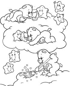 Carebearscoloringpages Care Bears Coloring Page 6 Crafty - care bear colouring pages to print