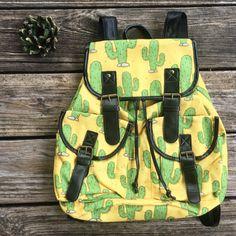 Prickly Cactus Jack Backpacks $32 >> would make the best festival bag... diaper bag.. gym bag... beach bag... purse... etc ... SO CUTE & UNIQUE.. >> online now @ www.lilbeesbohemian.com #cactus 🌵💋💕 #cactuslover #cactuslovers #cactusbackpack #festival #festivalfashion