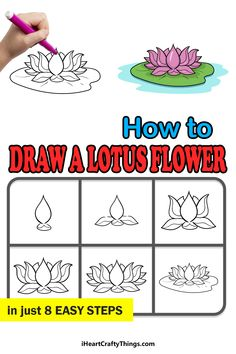 Love Flowers, Beautiful Flowers, Drawing Techniques, Adult Coloring Pages, Lotus Flower, Teaching Kids, Doodles, Zentangles, Drawings