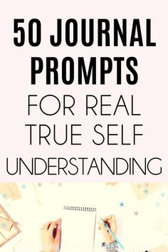 If you're looking for the best journal prompts for self discovery here they are! The 50 very best journal prompts to help nurture yourself and your life! Journal Prompts For Teens, Journal Writing Prompts, Journal Ideas, Therapy Journal, Mental Health Journal, Love Journal, Self Discovery, Thought Provoking, Self Help