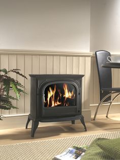 Hambleton Electric LCD Stove Black