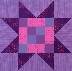 Quilted Blooms: Sawtooth Star Quilt Blocks (with Pieced Centers)