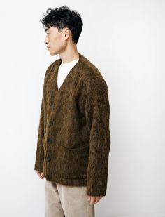 Our Legacy Cardigan Olive Melange Mohair Our Legacy, Once In A Lifetime, Men Sweater, Sweaters, Fashion, Moda, Fashion Styles, Men's Knits, Sweater