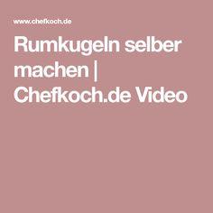 Rumkugeln selber machen | Chefkoch.de Video Videos, Food And Drink, Xmas, Sweets, Snacks, Drinks, Desserts, Recipes, Dressings