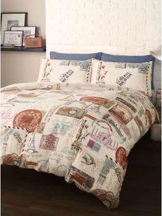 #Bedding Travel Around The World King Size Duvet Cover Set