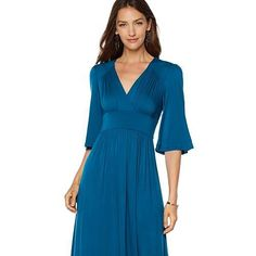 Melissa McCarthy Seven7 Flutter-Sleeve Dress - Missy - Black