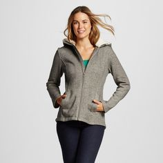 Cozy Fleece Jacket Oatmeal S - Merona