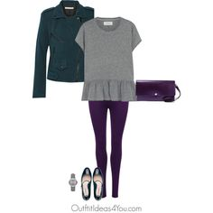 Lilac grey is a cool grey and looks great on a shaded winter. I kept this color combo cool and deep. Love the deep purple and deep teal. These colors will look gorgeous on a shaded winter.Have fun and wear what you love!Jen ThodenShop This LookThe Great gray shirtnet-a-porter.comRebecca