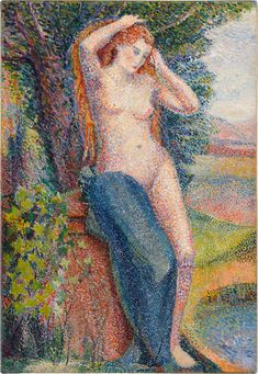 Baigneuse se coiffant | Impressionist & Modern Art2021 | Sotheby's Georges Seurat, Post Impressionism, Impressionist Art, Beaux Arts Paris, France Art, Black Sails, 2d Art, Traditional Art, Art Day