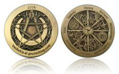 Wheel of the Year 2008 Geocoin Antik Gold