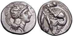 Lucania, Herakleia AR Didrachm. Circa 281-278 BC.