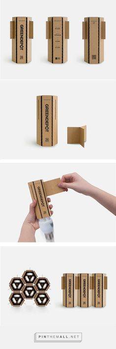 Really interesting honeycomb effect stacking the packages create
